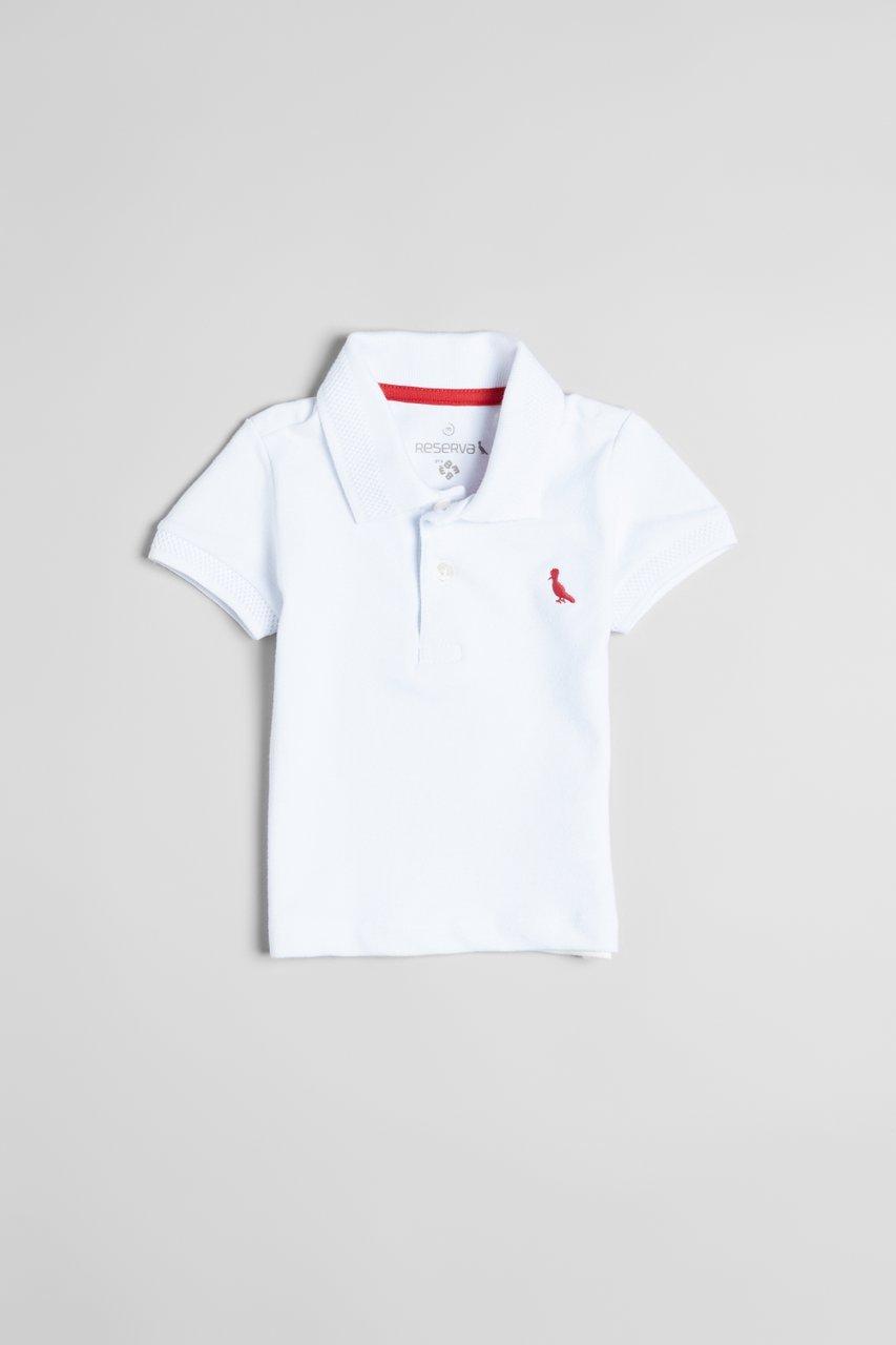 Camiseta Polo Manga Curta Piquet Elastano Branca Bebê - Reserva Mini ... d71609c6c6bb3