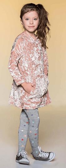 Vestido Manga Longa Floc com Bolso e Capuz Rose Infantil - Que te Encante