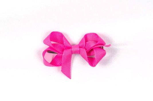 Laço de Tecido Tamanho P 5cm Rosa Chiclete - Gumii