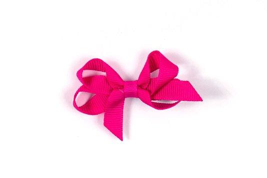 Laço de Tecido Tamanho P 5cm Rosa Choque - Gumii