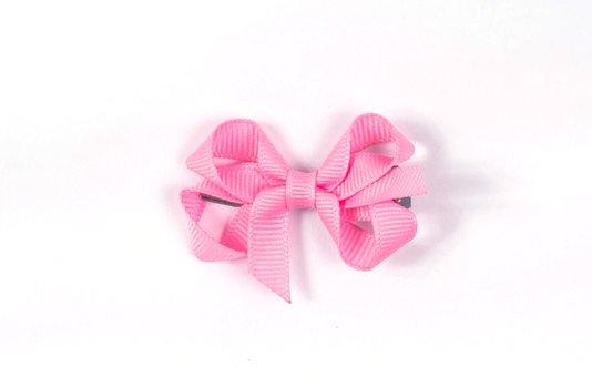 Laço de Tecido Tamanho P 5cm Rosa Claro - Gumii