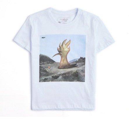 Camiseta Manga Curta Estampa Audioslave Infantil - Reserva Mini