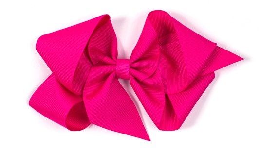 Laço de Tecido Tamanho GG 12cm Rosa - Gumii