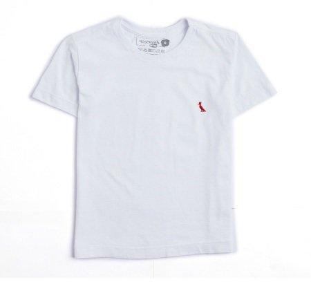 Camiseta Manga Curta Básica Coleção com Pica Pau Bordado Branca Infantil - Reserva Mini
