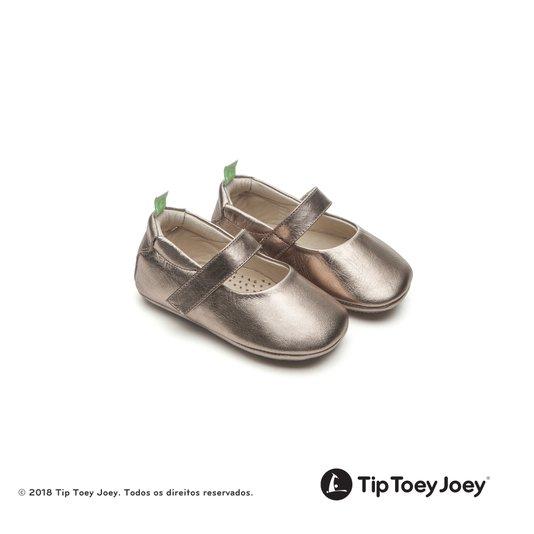 Sapato Dolly Gold Sparkle 17 ao 22 Bebê - Tip Toey Joey