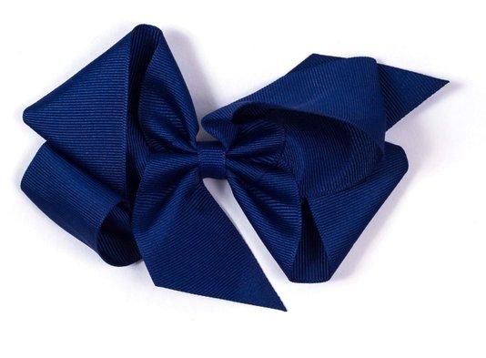 Laço de Tecido Tamanho GG 12cm Azul Marinho - Gumii