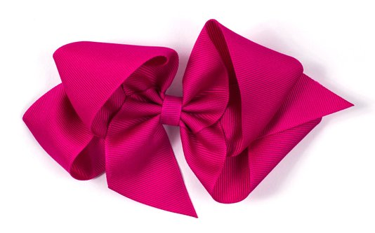 Laço de Tecido Tamanho GG 12cm Rosa Choque - Gumii
