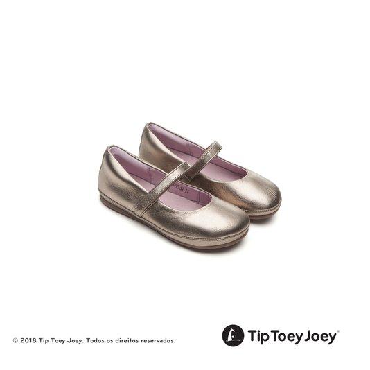 Sapatilha Little Twirl Gold Sparkle 22 ao26 Infantil - Tip Toey Joey