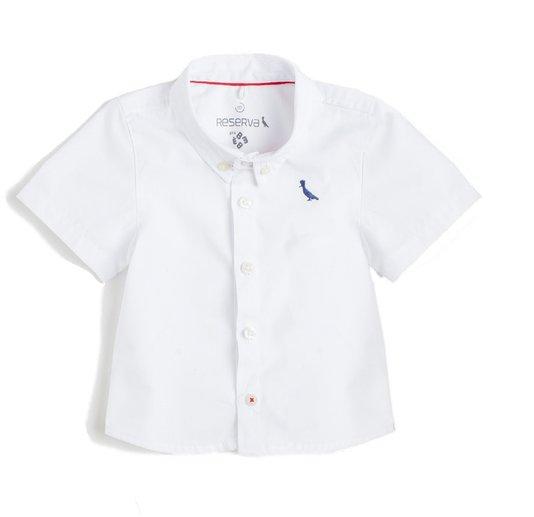 Camisa Manga Curta Branco Bebê - Reserva Mini
