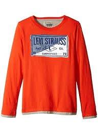 Camiseta Manga Longa Laranja - Levi's