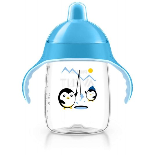 Copo Pinguim Azul 340ml - Philips Avent