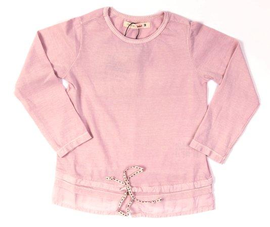 Blusa Manga Longa Rosa com Cadarço Infantil - Reserva Mini