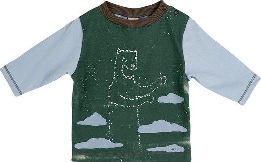 Camiseta Manga Longa Constelação com Botões - Green