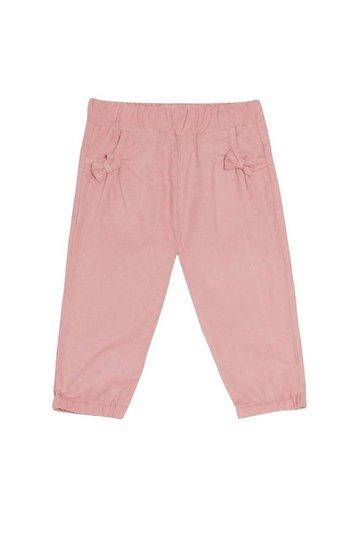 Calça Luma Veludo Rosa com Lacinho no Bolso Bebê - Que te Encante
