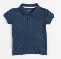 Camiseta Polo Manga Curta Mini Poazinho Azul Infantil - Reserva Mini
