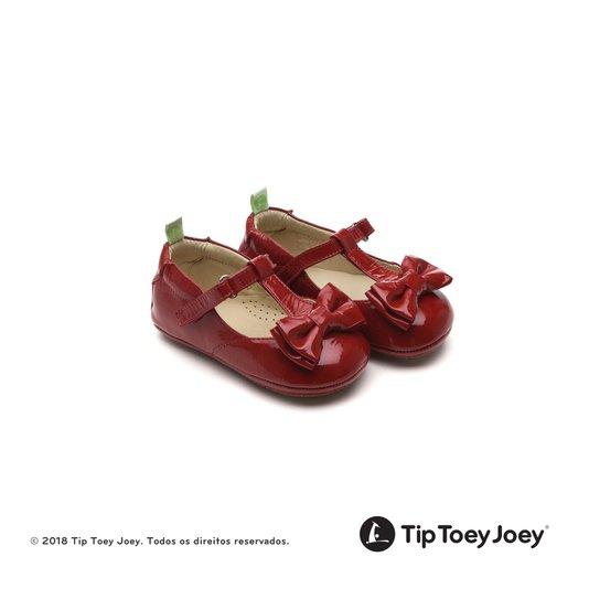 Sapatilha Nobly Patent Red 17 ao 22 Bebê - Tip Toey Joey