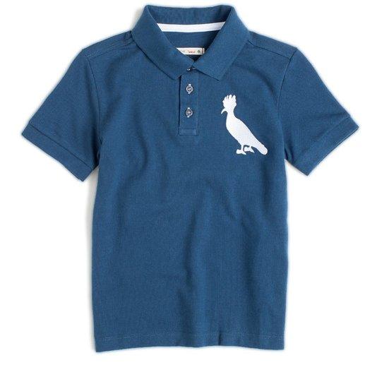 Camiseta Polo Mini Manga Curta Pica Pau Marinho Infantil - Reserva Mini