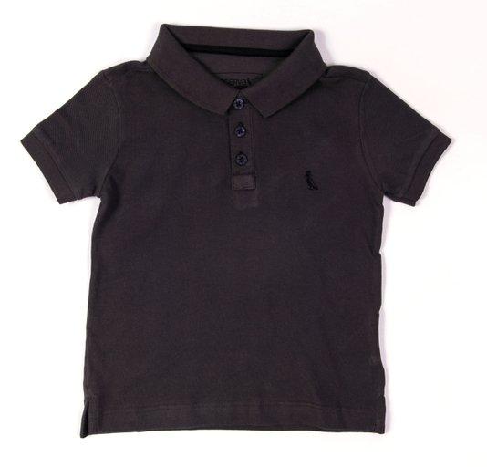 Camiseta Polo Básica Manga Curta Fuligem Infantil - Reserva Mini