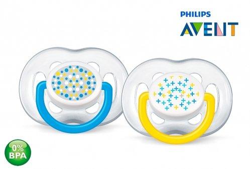 Kit Chupeta Freeflow Contemporânea 2 Unidades 6 a 18 Meses Azul - Philips Avent