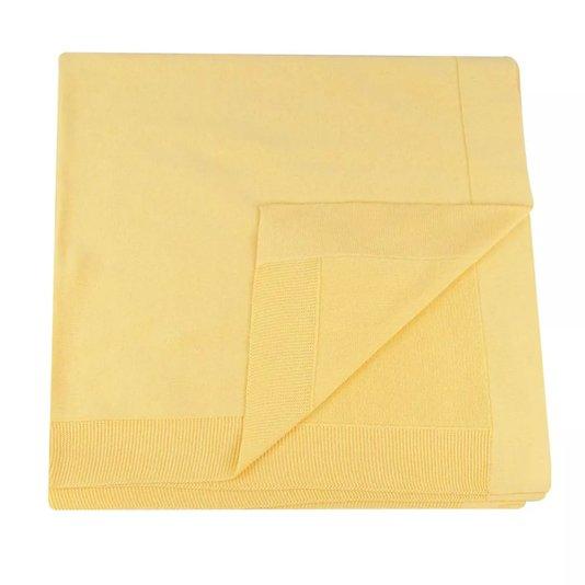 Manta Amarela Tricot 100% Algodão - Verivê Baby