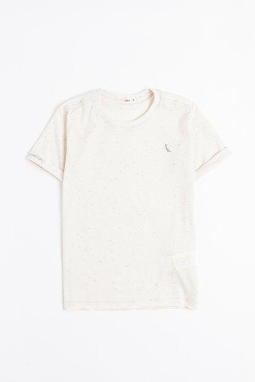 Camiseta Mini Manga Curta Off White Botone Festa Infantil - Reserva Mini
