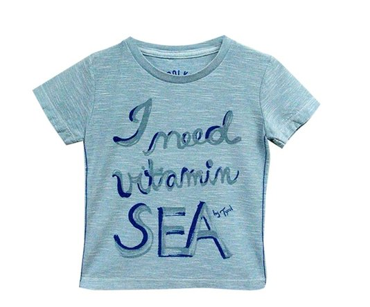 Camiseta Manga Curta I Need Vitamin Sea Azul - Tyrol