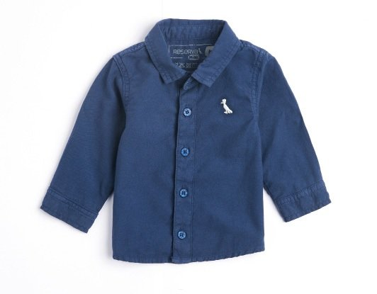 Camisa Manga Longa Marinho Infantil - Reserva Mini