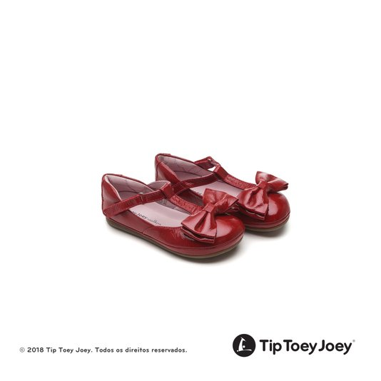 Sapatilha com Laço Little Noble Patent Red 22 ao 26 Infantil - Tip Toey Joey