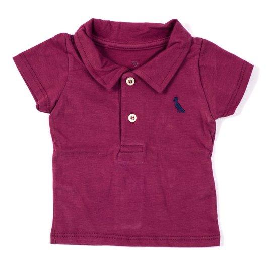 Camiseta Polo Comfort Básico Manga Curta Bordo Bebê - Reserva Mini
