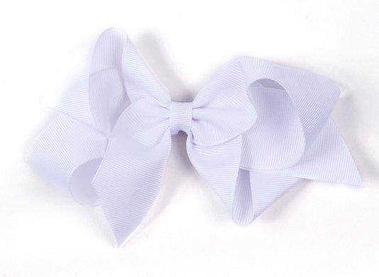 Laço de Tecido Tamanho GG 12cm Branco - Gumii