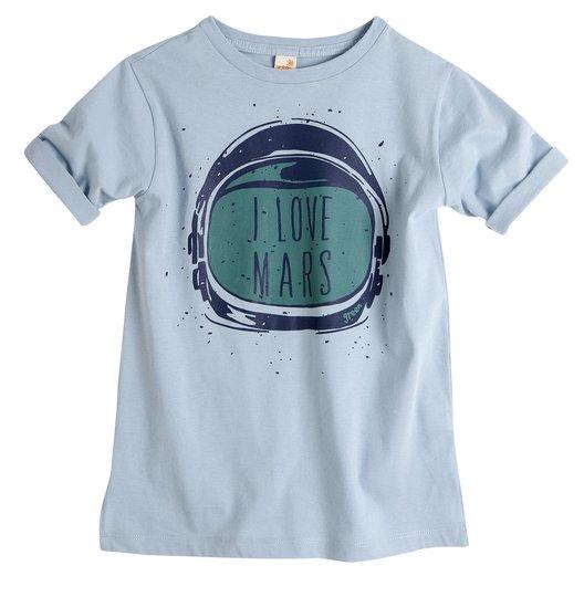 Camiseta 3,2,1 Manga Curta Azul Claro - Green
