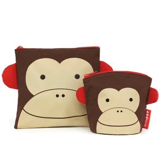 Kit de Saquinhos para Lanche Zoo Macaco - Skip Hop
