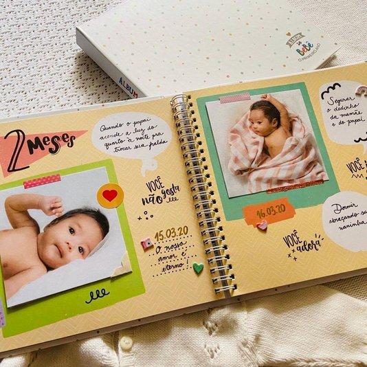 Álbum Momentos do Bebê Bolinhas - Coloré