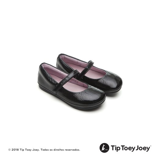 Sapatilha Little Twirl Patent Black 23 ao 27 - Tip Toey Joey