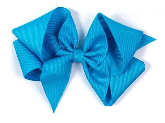 Laço de Tecido Tamanho GG 12cm Azul - Gumii