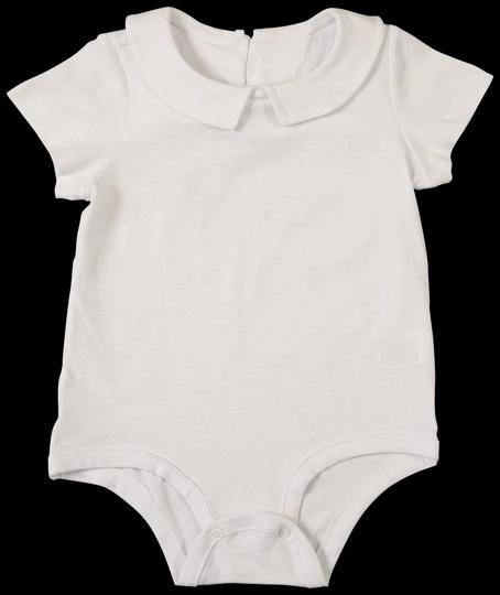 Body Manga Curta Branco com Gola Bebê e Infantil - Nutti