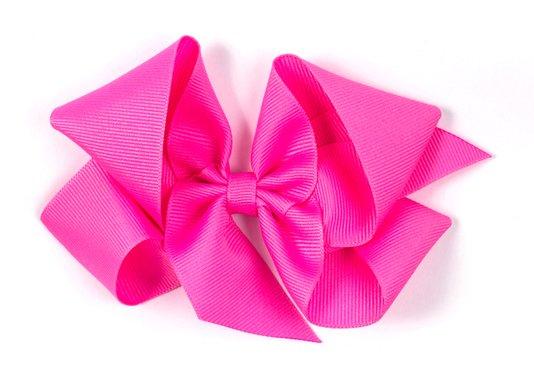 Laço de Tecido Tamanho GG 12cm Rosa Chiclete - Gumii