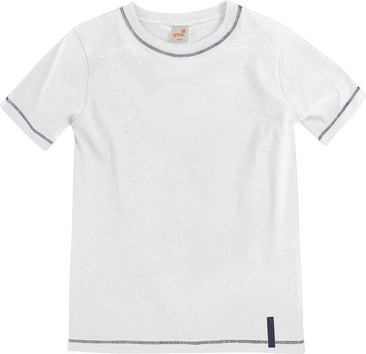 Camiseta Básica Manga Curta Branco - Green