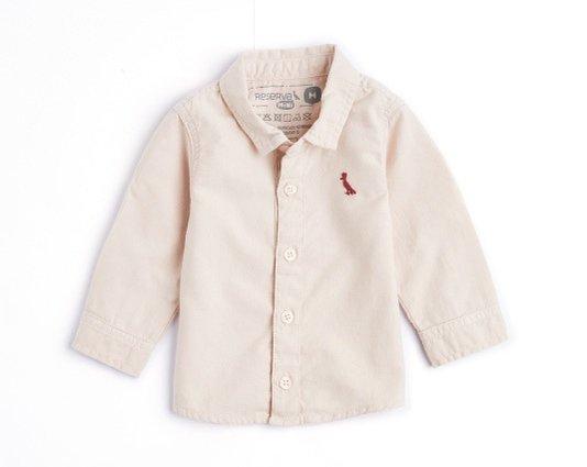 Camisa Manga Longa Natural Rosa Queimado Bebê - Reserva Mini