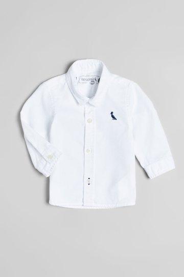 Camisa Manga Longa Oxford Branco Bebê - Reserva Mini