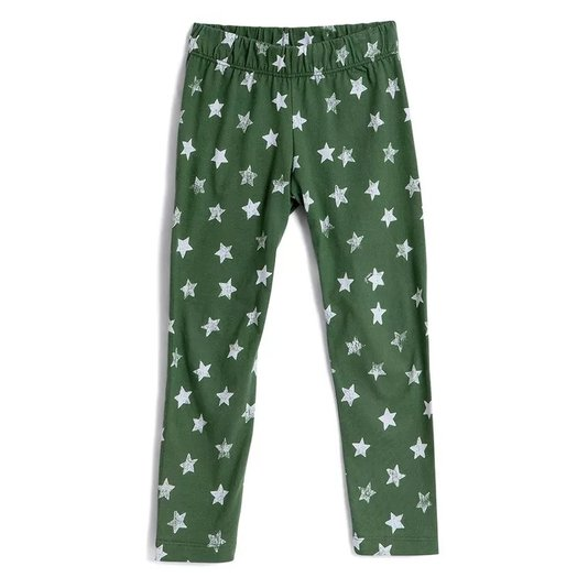 Calça Legging Estampa Estrelas Verde Infantil - Green