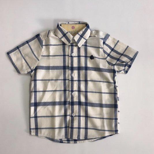 Camisa Manga Curta Xadrez Infantil - Beabá