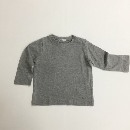 Camiseta Básica Manga Longa Cinza - Tyrol