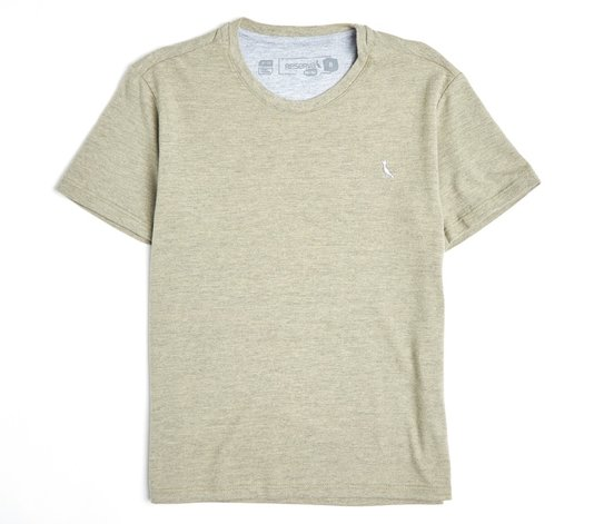Camiseta Manga Curta Básica Mescla Infantil - Reserva Mini