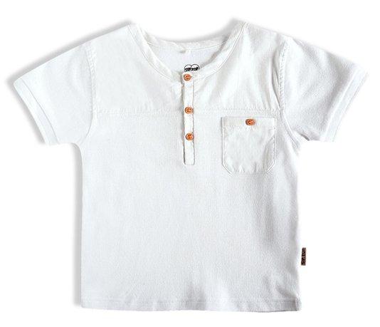 Camiseta Manga Curta Bolso Infantil