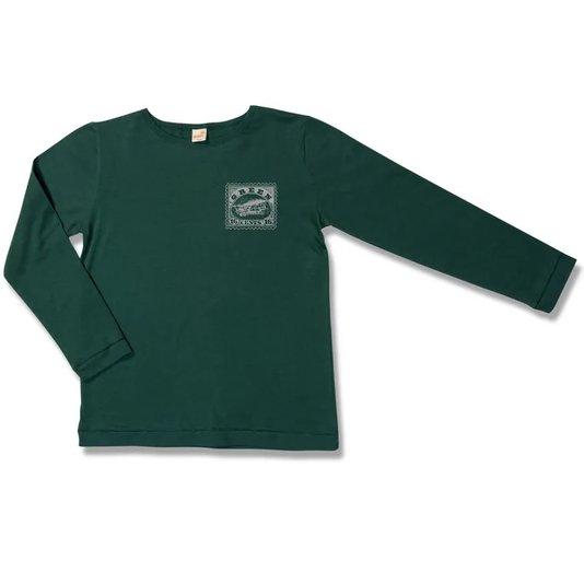 Camiseta Manga Longa Aventura Verde Infantil - Green By Missako
