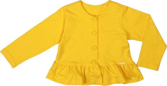 Cardigan Amarelo Babado Infantil - Precoce