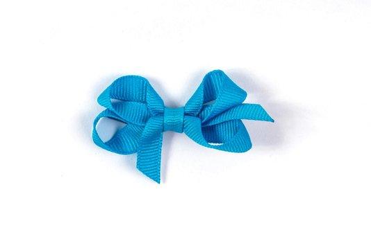 Laço de Tecido Tamanho P 5cm Azul - Gumii