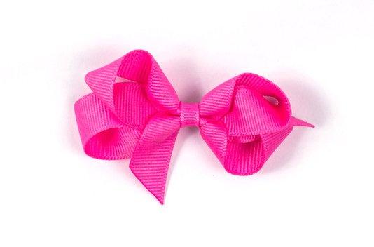 Laço de Tecido Tamanho M 7cm Rosa Chiclete - Gumii