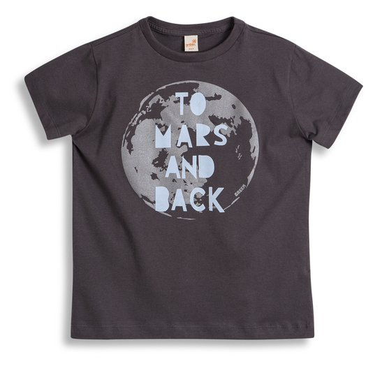 Camiseta Manga Curta Back to Mars Chumbo - Green